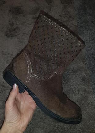 Кожаные демисезонные ботинки geox италия