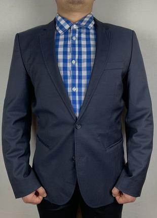 Hugo boss blazer пиджак с натуральной шерсти и монограммой внутри купить киев