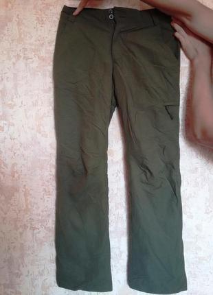 Теплые, шикарные спортивные брюки цвета хаки фирмы tenson. 36-39 размер