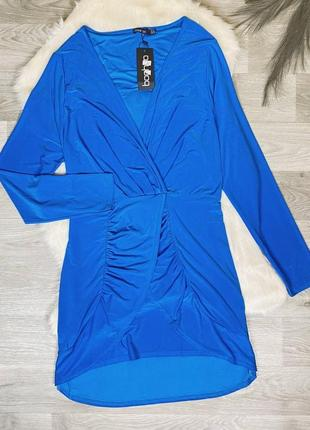 Красивое нежно-голубое платье от boohoo