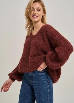 Трендовый оверсайз свитер из альпаки🧶очень мягенький и тёплый 🌿