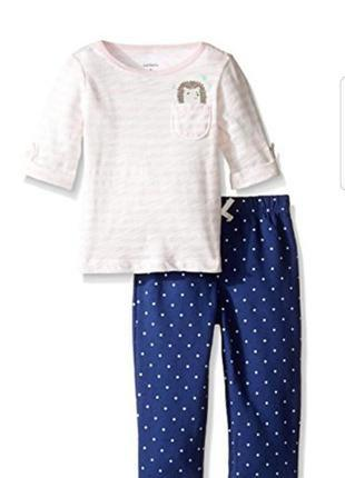 Carters оригинал набор комплект для девочки лосины штаны реглан 24мес.2года