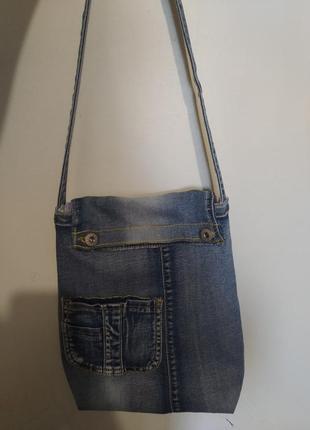 Стильная,молодежная, джинсовая сумка