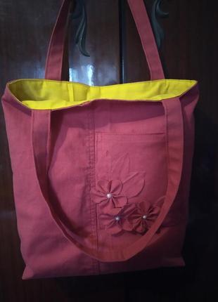 Стильная джинсовая сумка,еко торба