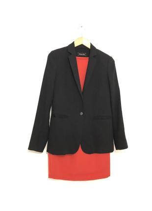 Пиджак классический чёрный s m