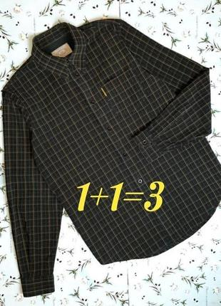 🌿1+1=3 шикарная плотная рубашка в клетку armani jeans оригинал, размер 46 - 48
