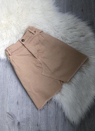 Юбка джинсовая с высокой талией