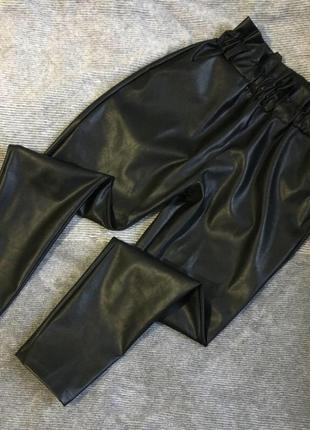 Кожаные штаны с высокой посадкой 🖤