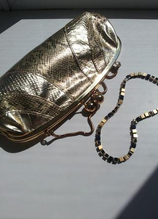 Клатч под золото на цепочке