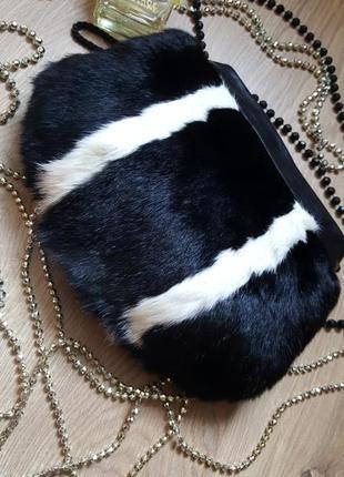 Стильная неординарная сумочка муфта новая искусственный мех