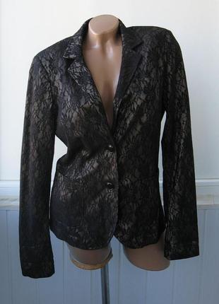 Пиджак гипюровый, приталенный, нарядный