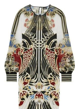 Just cavalli шикарное дизайнерское платье категории люкс, вечернее объемные рукава манжеты