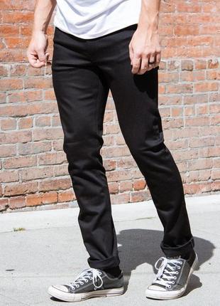 Оригинальные джинсы nudie jeans thin finn dry cold black