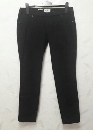 Брюки, skinny leg, тонкий джинс, 50, хлопок, эластан, river island