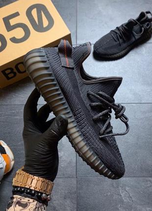 Кроссовки мужские adidas yeezy 350 v2 triple black