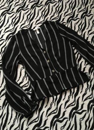 Рубашка на пуговках в полоску h&m