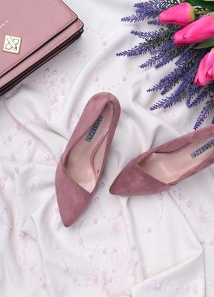 Замшевые туфли - лодочки на шпильке (333893)