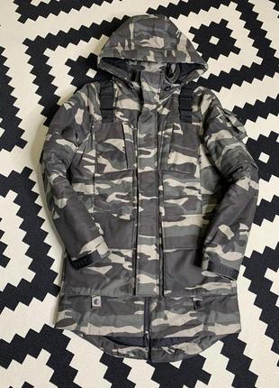 Мужская камуфляжная защитная куртка парка military голландского бренда ashes to dvst dust