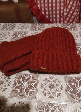 Набор (шарф хомут и шапка)