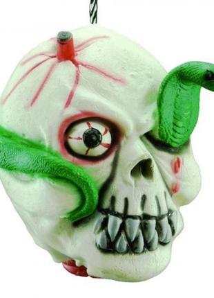 Декор для фотозоны хэллоуин голова со змеей