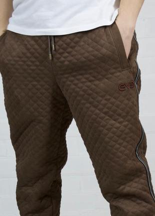Теплые зимние спортивные коричневы брюки, джоггеры, штаны by ievenko