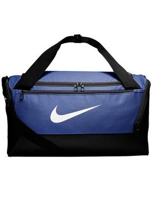 Сумка тренировочная спортивная nike brasilia small 41l ba5957-480 синий