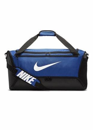 Сумка тренировочная спортивная nike brasilia medium 60l ba5955-480 синий