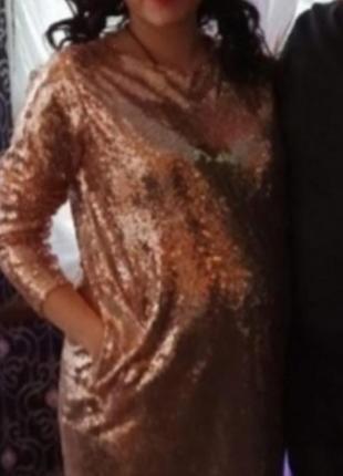 Платье оверсайз, платье для беременных. паетки