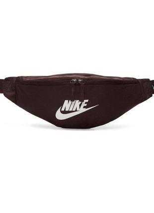 Сумка на пояс nike sportswear heritage ba5750-227 бордовый