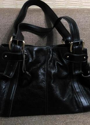 Брендовая кожаная сумка liz claiborne
