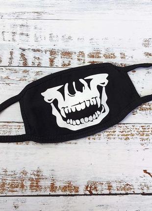 Защитная маска на лицо аниме череп