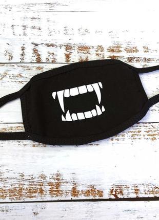 Защитная многоразовая маска на лицо аниме клыки вампира