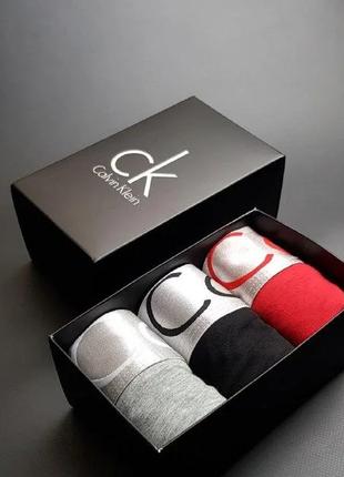 Подарочный набор мужских трусов calvin klein. боксерки. 3 шт в наборе. 11 цветов на выбор