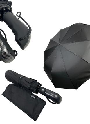 """Мужской зонт-полуавтомат на 10 спиц с системой """"антиветер"""" от calm rain, 345-1"""