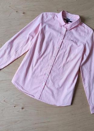 Стильная рубашка блузка в полоску  tommy hilfiger