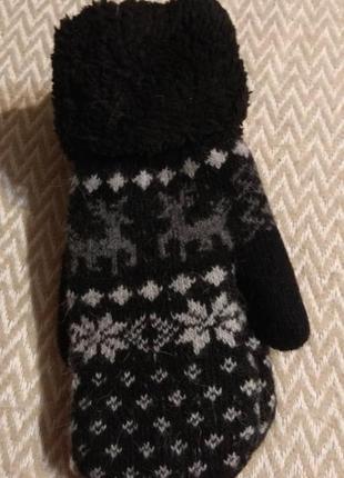 Новые/ теплые зимние варежки/ рукавицы
