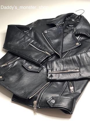 Куртка - косуха от bershka , объемная , оверсайз, s-m