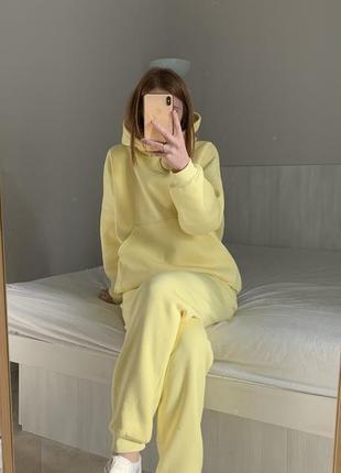Лимонный тёплый костюм