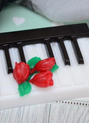 Мыло клавиши с розочками