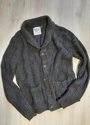 Кардиган topman вязаный теплый кофта свитер мужской одежда мужская шерсть