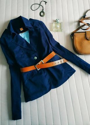 Базовый жакет, пиджак классика (оригинал) индиго