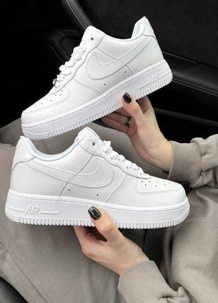 Шикарные женские кроссовки nike air force 1 07 white наложенный платёж