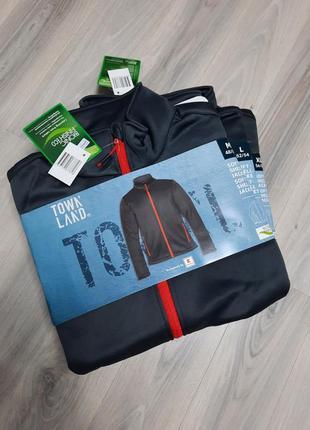 Softshell треккинговая куртка от townland m, l и хl (полномерные) софтшелл