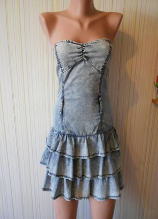 #джинсовый сарафан#tally weijl#платье-бюстье# на рост 155см