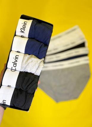 Набор мужских плавок calvin klein в наборе 5 штук наложенный платёж