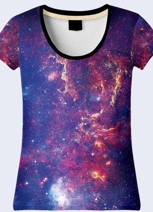 Классная футболка 3d млечный путь