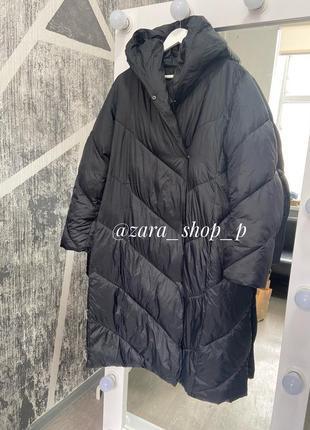 Стёганое пальто zara