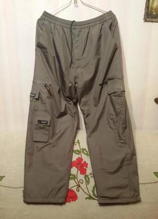 Зимние плащевые штаны на флиссе (поб 60 см)