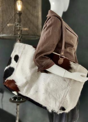 Hand made. большая сумка из натуральной шкуры.