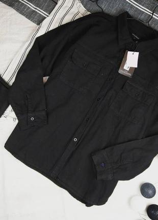 Новая джинсовая рубашка блуза prettylittlething